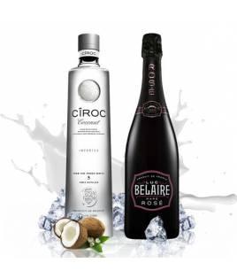 Groupe de luxe (Luc Belaire Rose + Ciroc Coconut Vodka)