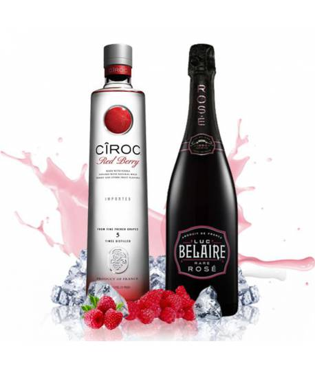 Pack Luxury Party (Luc Belaire Rose + Vodka Ciroc Red Berry)
