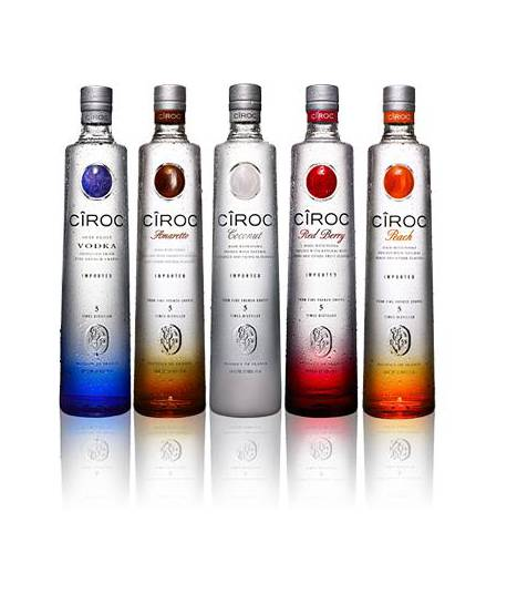 Buy Luxury Pack of Premium Ciroc Vodka with 6 different Flavors