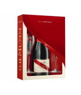 Cas 2 verres Champagne Mumm Cordon Rouge