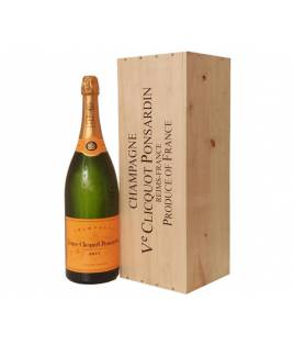 Veuve Clicquot Yellow Label Brut Jeroboam 3 l Wood Box