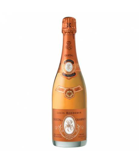 Louis Roederer Cristal Rosé 2005 750 ml with gift box